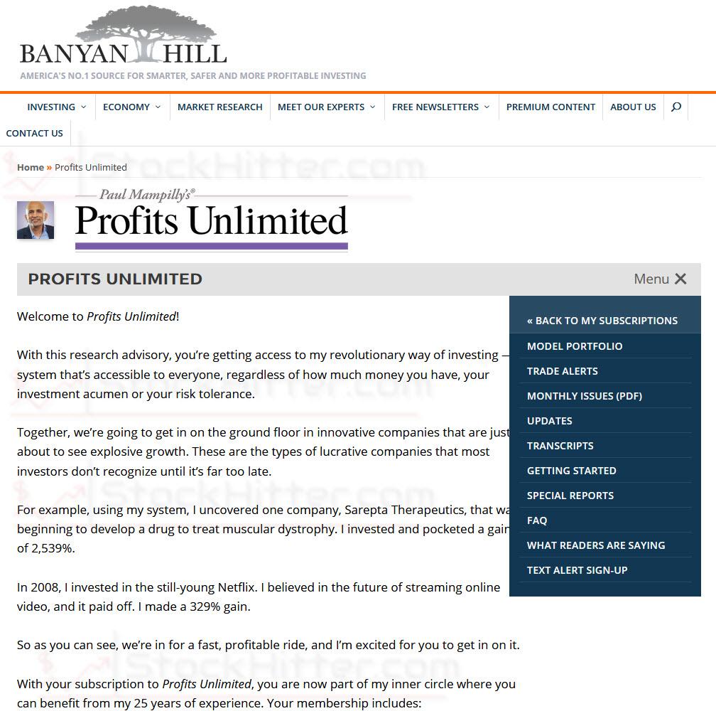 Profits Unlimited Members Area