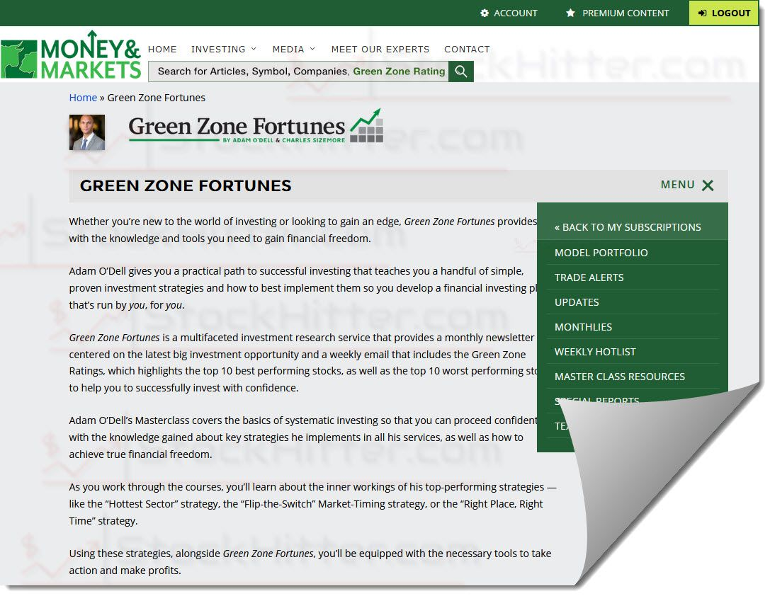 Green Zone Fortunes Members Area